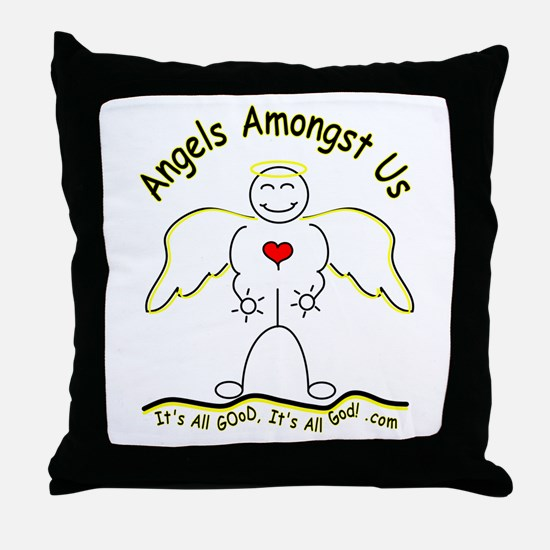 Angels Amongst Us 2 Throw Pillow