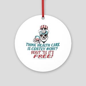 Obama's Health SCARE Ornament (Round)