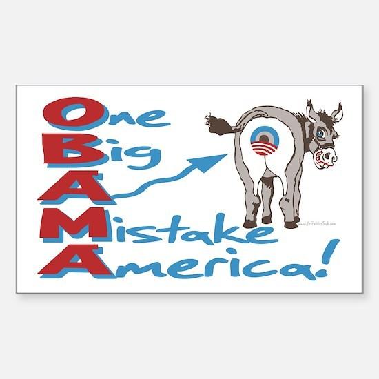 Obama Big Ass Mistake Sticker (Rectangle)
