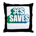 Command S Saves Throw Pillow