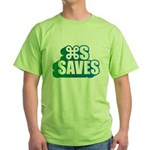 Command S Saves Green T-Shirt