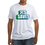 Command S Saves Fitted T-Shirt