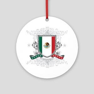 Mexico Shield Ornament (Round)