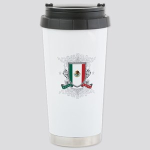 Mexico Shield Stainless Steel Travel Mug