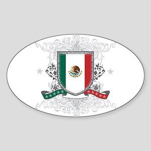 Mexico Shield Sticker (Oval)