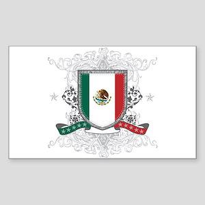 Mexico Shield Sticker (Rectangle)