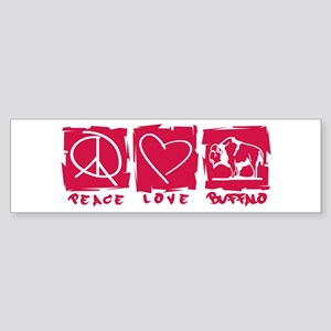 Peace.Love.Buffalo Sticker (Bumper)