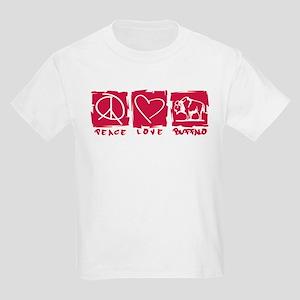Peace.Love.Buffalo Kids Light T-Shirt