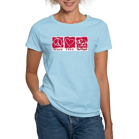 Peace.Love.Buffalo Women's Light T-Shirt