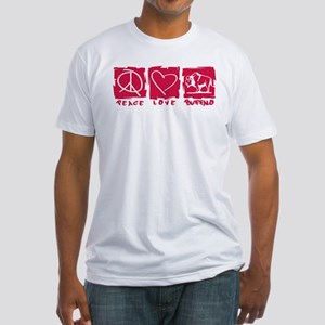 Peace.Love.Buffalo Fitted T-Shirt