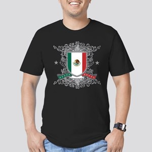Mexico Shield Men's Fitted T-Shirt (dark)