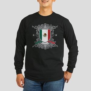 Mexico Shield Long Sleeve Dark T-Shirt
