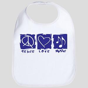 Peace.Love.Music Bib