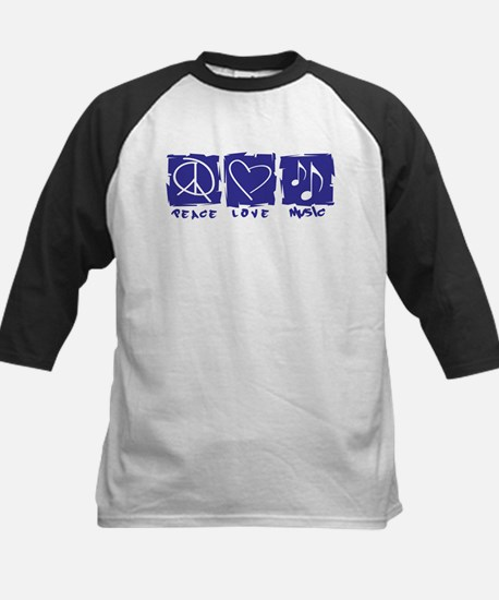 Peace.Love.Music Kids Baseball Jersey