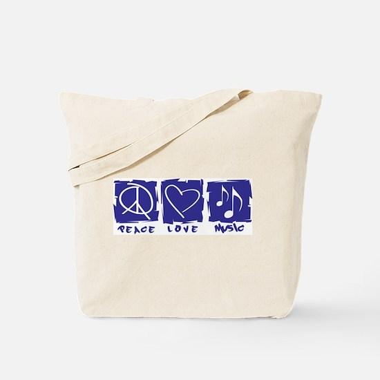 Peace.Love.Music Tote Bag