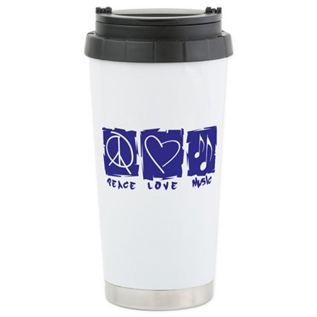 Peace.Love.Music Stainless Steel Travel Mug