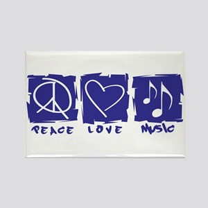 Peace.Love.Music Rectangle Magnet