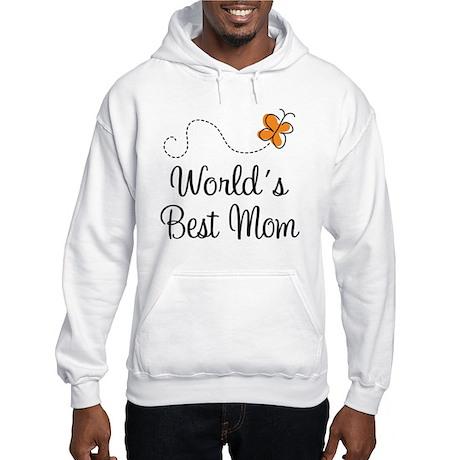 Cute Worlds Best Mom Hooded Sweatshirt