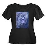 Leo Women's Plus Size Scoop Neck Dark T-Shirt