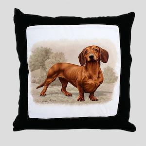 Classic Dachshund Throw Pillow