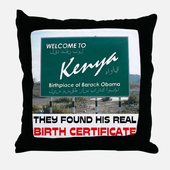 IS HE KENYAN ? Throw Pillow