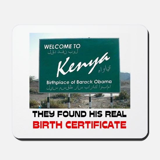 IS HE KENYAN ? Mousepad