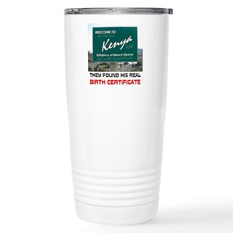 IS HE KENYAN ? Stainless Steel Travel Mug