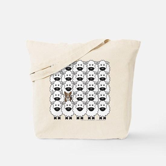 Corgi in Sheep Tote Bag