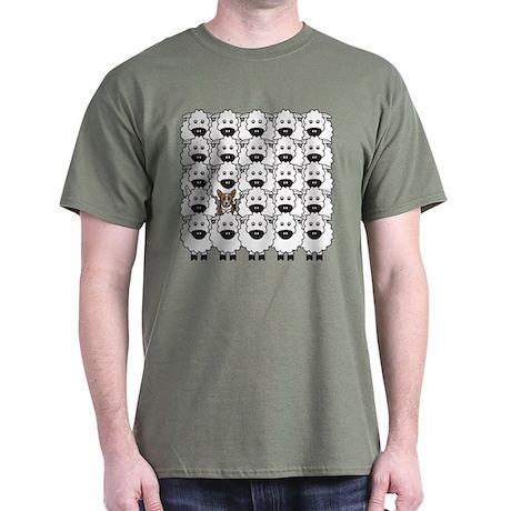 Corgi in Sheep Dark T-Shirt