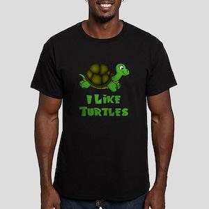 I Like Turtles Men's Fitted T-Shirt (dark)