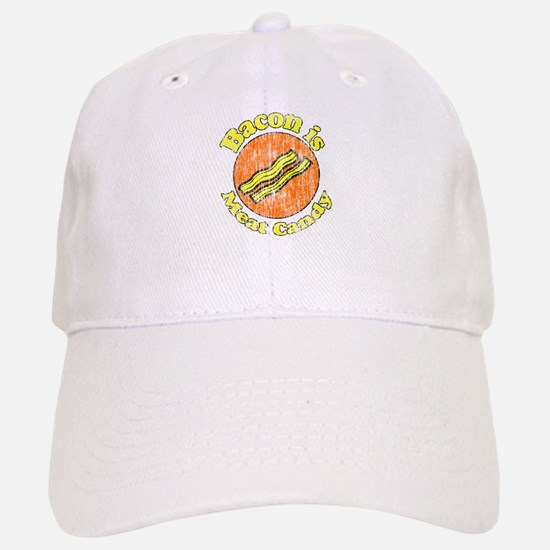 Vintage Bacon is Meat Candy Baseball Baseball Cap
