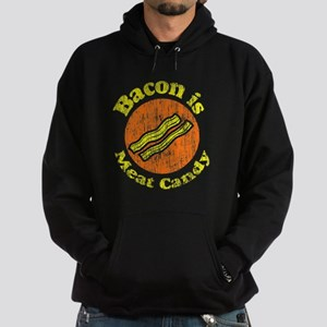Vintage Bacon is Meat Candy Hoodie (dark)