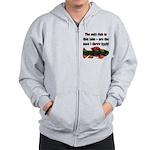 Men's Funny Fishing Zip Hoodie