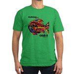 Men's Funny Fishing Men's Fitted T-Shirt (dark)