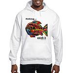 Men's Funny Fishing Hooded Sweatshirt