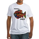 Men's Funny Fishing Fitted T-Shirt