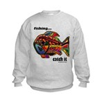 Men's Funny Fishing Kids Sweatshirt