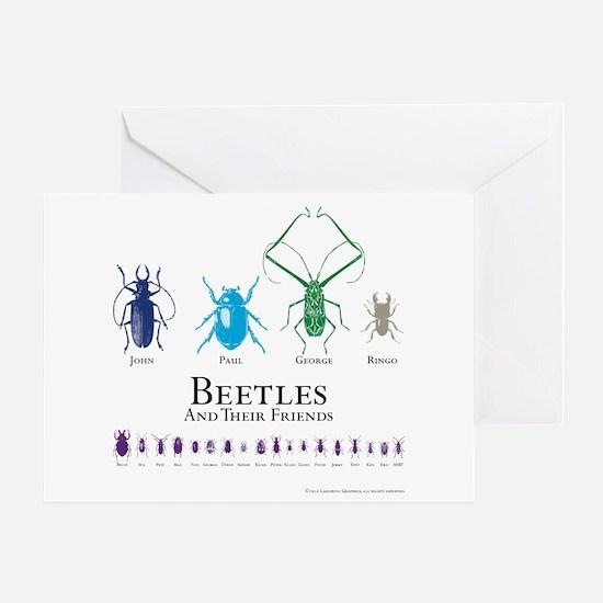 Beetles Greeting Card