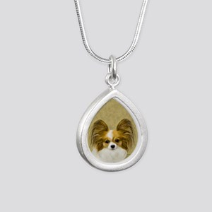 Papillon Silver Teardrop Necklace