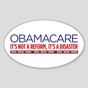 Obamacare Disaster Sticker (Oval)
