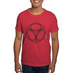 Curve-stitch Design Dark T-Shirt