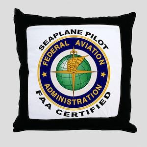 FAA Certified Seaplane Pilot Throw Pillow
