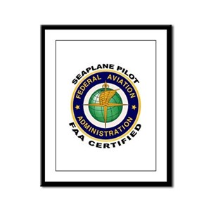 FAA Certified Seaplane Pilot Framed Panel Print