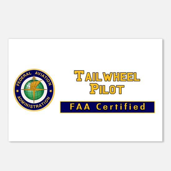 FAA Certified Tailwheel Pilot Postcards (Package o