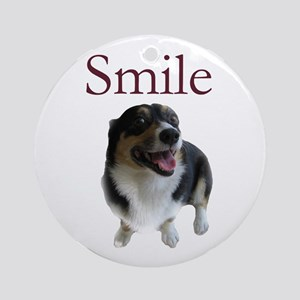 Smiling Dog Ornament (Round)