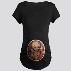 Razz Baby -DS Maternity Dark T-Shirt