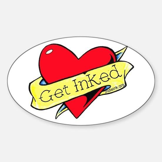 Get Inked Sticker (Oval)