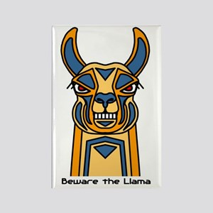 Beware the Llama Rectangle Magnet