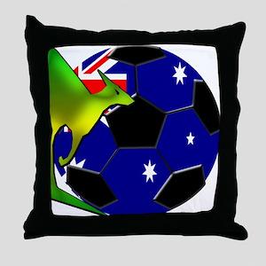 Australia Soccer Throw Pillow