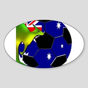 Australia Soccer Sticker (Oval)